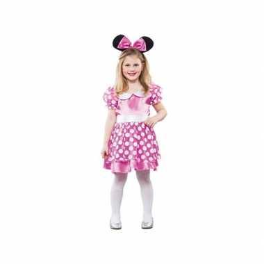 Meisjes roze muis verkleedkleding