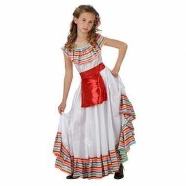 Mexicaans meisje verkleedkleding met rood schortje