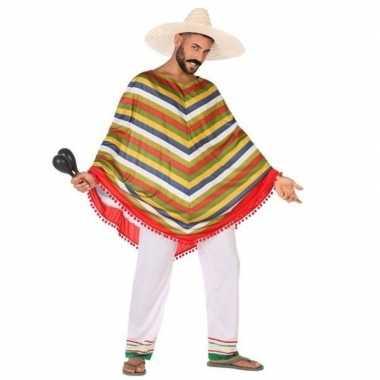 Mexicaans verkleed verkleedkleding/poncho voor heren