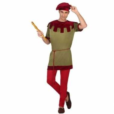 Middeleeuws page verkleed verkleedkleding voor heren