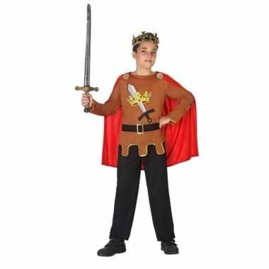 Middeleeuwse ridder/koning arthur verkleed verkleedkleding jongens