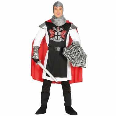 Middeleeuwse ridder met cape verkleed verkleedkleding voor heren