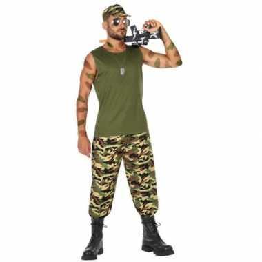 Militair/soldaat verkleed pak/verkleedkleding voor heren