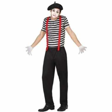 Mime clowns heren verkleedkleding