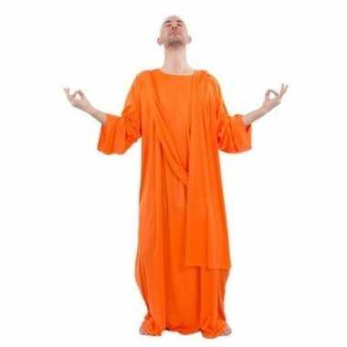 Monnik verkleedkleding oranje voor heren