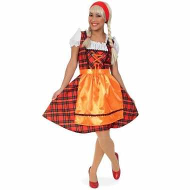 Oktoberfest verkleedkleding met schotse ruit