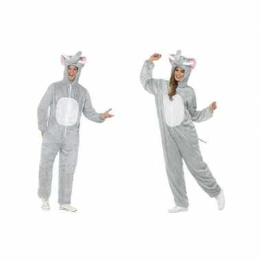 Olifant onesie verkleedkleding voor volwassenen