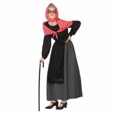 Oma verkleed jurk verkleedkleding voor dames