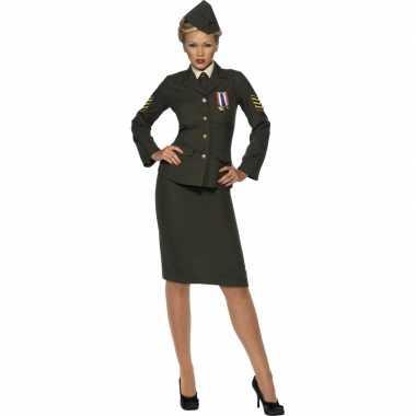 Oorlog officier verkleedkleding voor dames