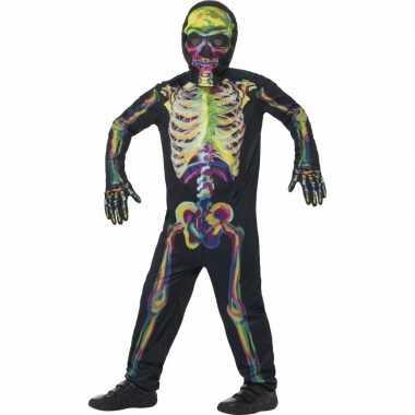 Oplichtende skelet verkleedkleding voor kinderen