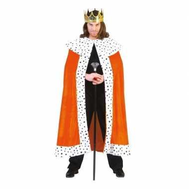 Oranje koningsverkleedkleding volwassenen