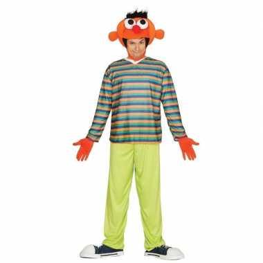 Oranje pop ernie verkleed verkleedkleding voor heren