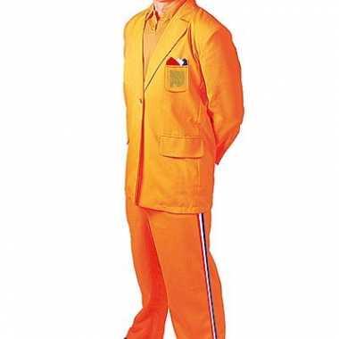 Oranje verkleedkleding bobo