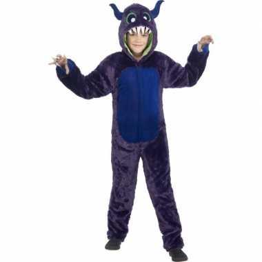 Paars monster verkleedkleding voor kinderen