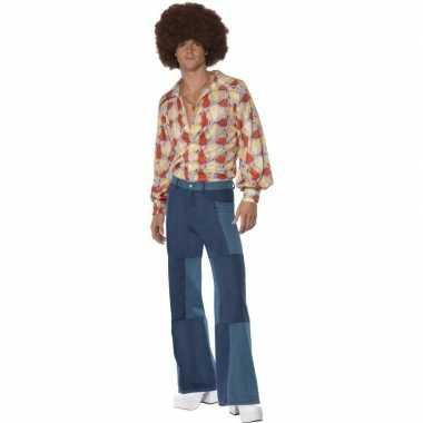 Patchwork jaren 70 verkleedkleding voor heren