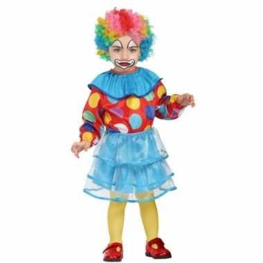 Peuter meisjes verkleedkleding clown
