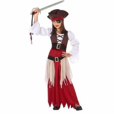 Piraten verkleed verkleedkleding/jurk voor meisjes