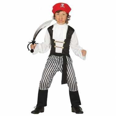 Piraten verkleedkleding maat 110 116 met zwaard voor kinderen