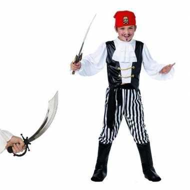 Piraten verkleedkleding maat m met zwaard voor kids