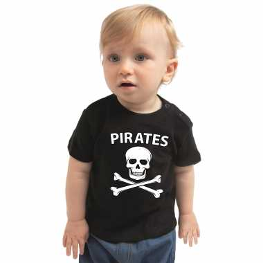 Piraten verkleedkleding shirt zwart voor peuters