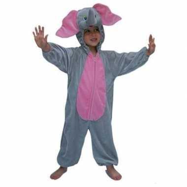 Pluche dieren verkleedkleding olifant