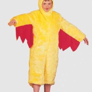 Pluche gele kip kinder verkleedkleding