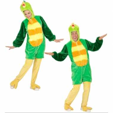 Pluche groene vogel verkleedkleding