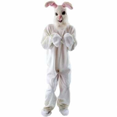 Pluche konijn verkleedkleding voor volwassenen