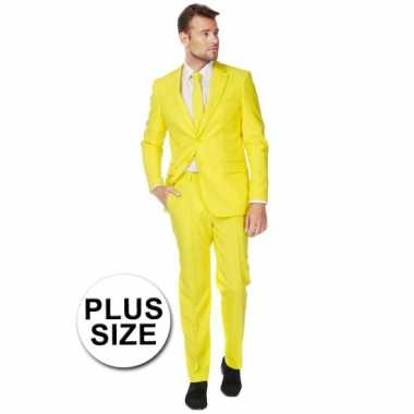 Plus size heren verkleedkleding geel