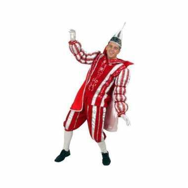 Prins carnaval verkleedkleding rood/wit