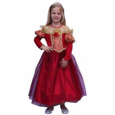 Prinsessen verkleedkleding voor meisjes in de kleur rood