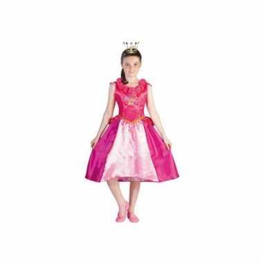 Prinsessia verkleed verkleedkleding roze