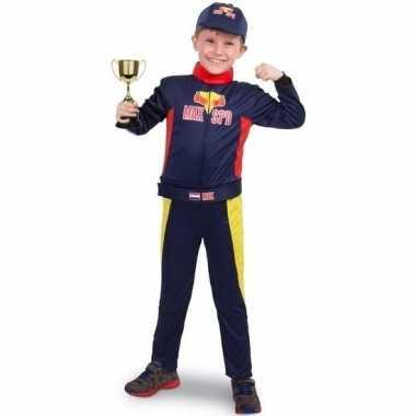 Race/formule 1 verkleedkleding met beker voor jongens