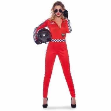 Race verkleed verkleedkleding/jumpsuit voor dames
