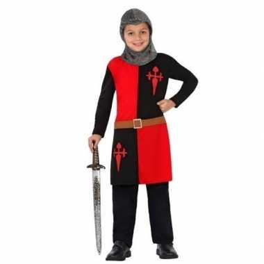 Ridder pak/verkleed verkleedkleding rood voor jongens