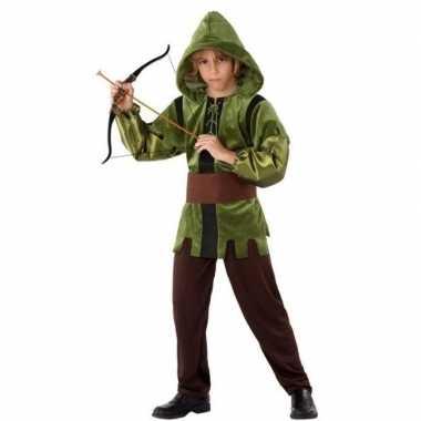 Robin hood verkleed verkleedkleding 3 delig voor kinderen