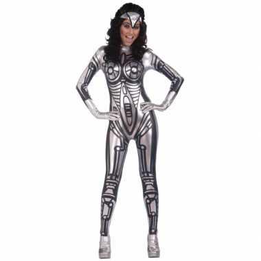 Robot jumpsuit verkleedkleding voor dames