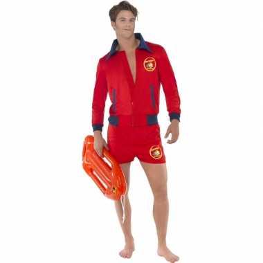 Rode baywatch verkleedkleding