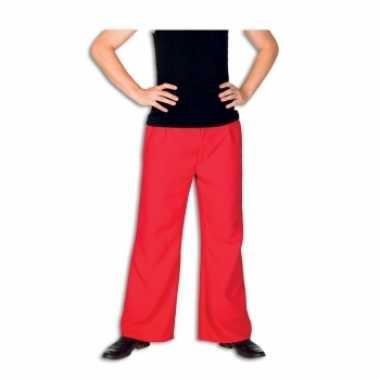 Rode verkleedkleding broek voor heren
