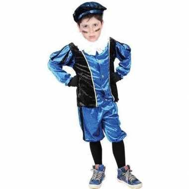 Roetveeg pieten verkleedkleding blauw/zwart voor kinderen