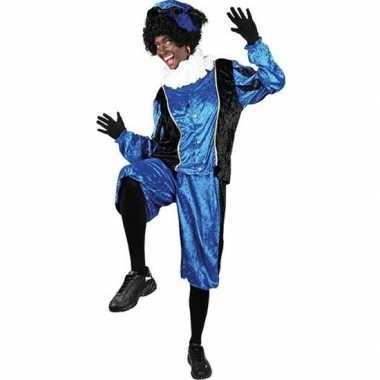 Roetveeg pieten verkleedkleding blauw/zwart voor volwassenen