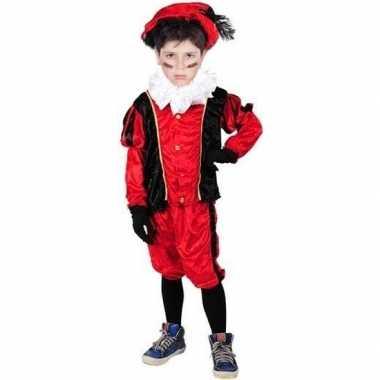 Roetveeg pieten verkleedkleding rood/zwart voor kinderen