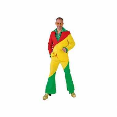Rood/geel/groene verkleedkledings voor volwassenen