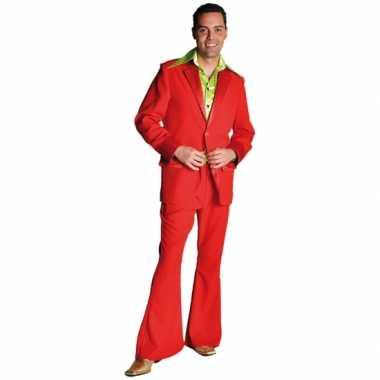 Rood jaren 70 verkleedkleding voor heren
