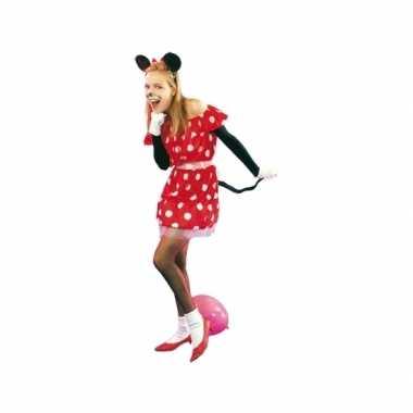 Rood muisje verkleedkleding voor dames