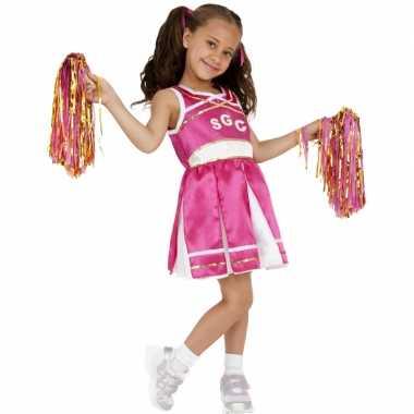 Roze cheerleader verkleedkleding