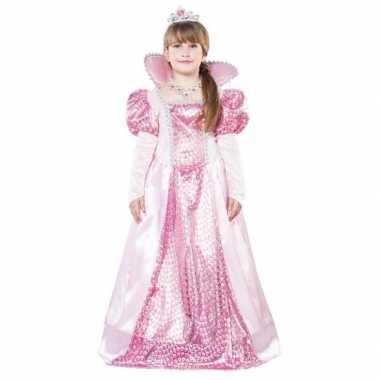 Roze koningin verkleedkleding voor meisjes