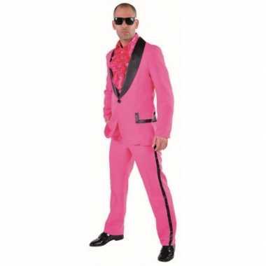 Roze smoking verkleedkleding voor heren