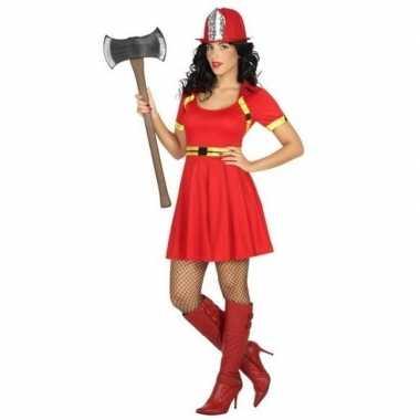 Sexy brandweervrouw verkleed verkleedkleding/jurkje voor dames