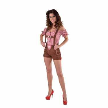 Sexy bruine tiroler lederhosen verkleedkleding/broekje voor dames